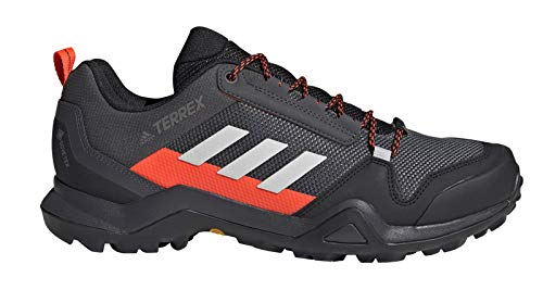 adidas Men's Terrex AX3 GTX Low Rise Hiking Boots, Grpudg Griuno Rojsol, 6 UK