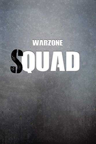 Warzone Quad Squad Notebook: 6x9 Ruled Journal Planner: The Perfect Accessory for Gamers Solo Quads Battle-Royale