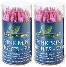 Wilson & Fisher PINK Novelty Mini Lights 70 Count, 14 Ft. Indoor or Outdoor Decorative Lights (Pack of 2)
