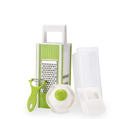 NANGE Vierkantreibe Edelstahl Multireibe Küchenreibe Mit,4 Verschiedenen Reibeflächen,Schäler Und Sieb Kunststoff Reibe Mit Schutz Und Für Kitchen Aid,Multischneider | Obstschneider |