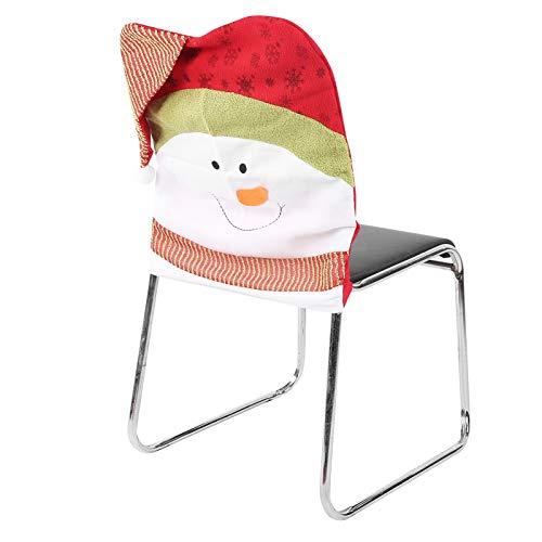 Xmas Chair Cap Chair Back Case Moderate Weihnachtsdekoration hochwertige Stoff Home Party für Esstisch Set(Snowman)