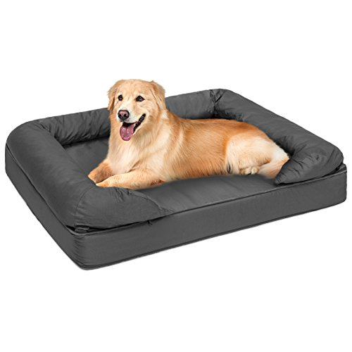 Best Choice Products Large Orthopedic Pet Sofa Bed Mattress w/Comfortable Memory Foam for Dog, Cat, and Puppy