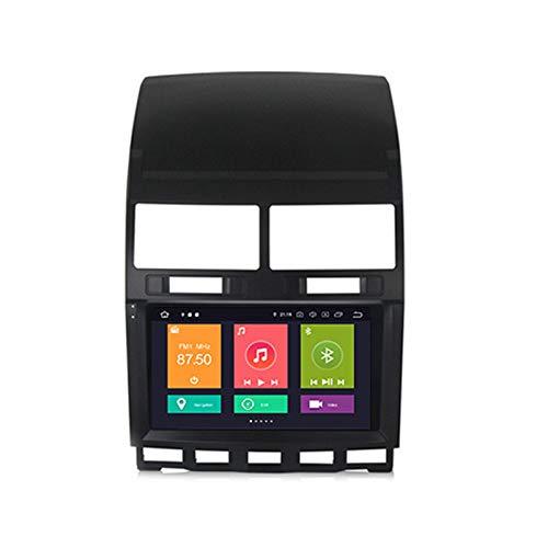 ADMLZQQ Android 10 Car Radio Player Navegación GPS para VW Touareg 2002-2010 con Pantalla táctil 9'Admite FM RDS DSP Integrado Apple Carplay Stereo MP5 Player Android Auto Multimedia SWC,Px6,4+64
