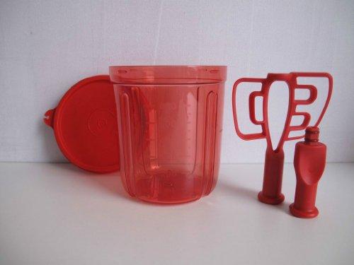 TUPPERWARE Chef Erweiterung Multi-Chef Behälter rot+Adapter+Rühreinsatz+Deckel