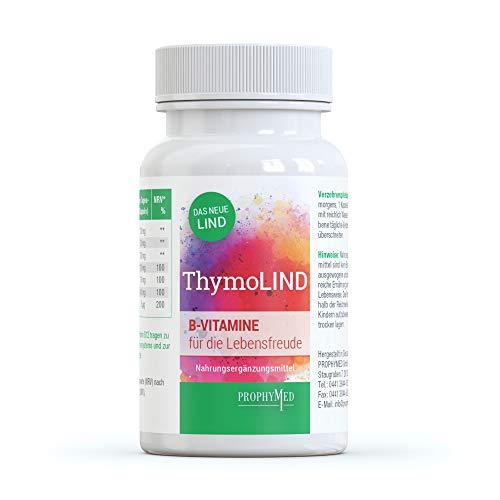 ThymoLIND Gute Laune Kapseln - 100{8ac9667ea12cfc3acb655e427403b282bec6df207043087465e6ba90996ff595} pflanzlich mit Ashwagandha, Johanniskraut & Safran, enthält natürliches 5 HTP aus der Griffonia simplicifolia B-Vitamine, NADH & Methionin hochdosiert, 60 Kapseln