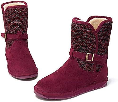 AGECC Femmes Femmes Femmes Les Les dames Hiver Bottes De Neige Bottes d'hiver Et Velvet Mao Xiannv Tube épaisse Chaussures De Neige Chaudes Bonne Chance pour Vous 5df