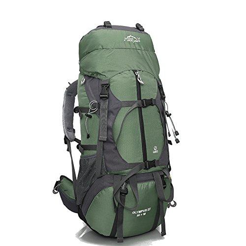 Professionnel en plein air, randonnée sac à dos voyage sac 80L litres capacité sacs à dos sac à dos team , green
