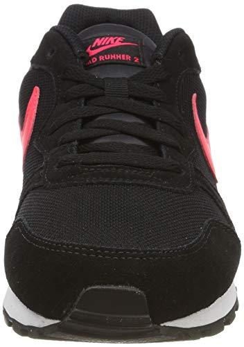 Nike MD Runner 2, Zapatillas de Running Hombre, Multicolor (Black/Red Orbit 008), 42 EU