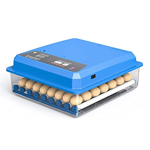 LRBBH 56 Huevo Incub Farm Quail Pollo Incub Totalmente automático Control de Temperatura Aves de Corral Huevo Huevo Brooder Incubador de criadero más Nuevo Potencia Dual (Color : 56Dual Power)