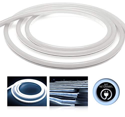 Preisvergleich Produktbild LEDU NeonFlex Pro230 kaltweiß (Länge: 1m,  230V LED-Streifen,  Neon-Flex LED-Stripe ohne Lichtpunkte,  durchgängig Leuchtend,  9W / m,  EEK: A,  Anschluss: Eurostecker)