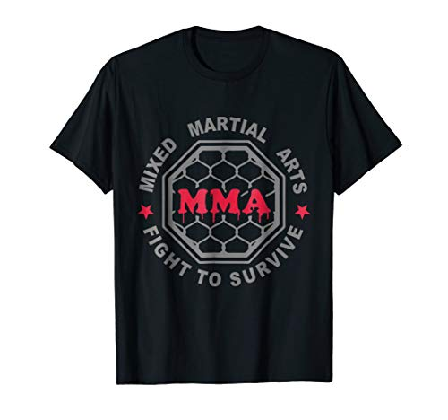 MMA MIXED MARTIAL ARTS CAGE T SHIRT BJJ