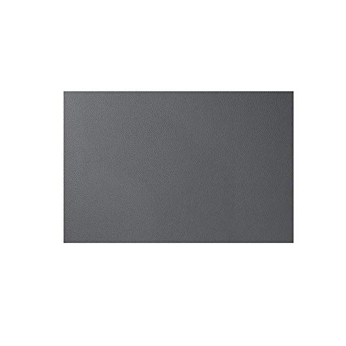 MingMingA Hermosa Mantel Individual De Cuero Impermeable Y Resistente Al Aceite. 45 * 30 cm (4 Fundas) Gris Oscuro