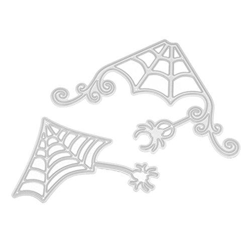 Merry Halloween Metal Cutting Dies LINGERY Stencils Scrapbooking Embossing DIY Paper Card Crafts Various Shape (C)