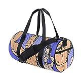 ZOMOY Sporttasche,Envy Bodybuilder Thin Man ist Sport,Neue Bedruckte Eimer Sporttasche Fitness Taschen Reisetasche Gepäck Leinwand Handtasche