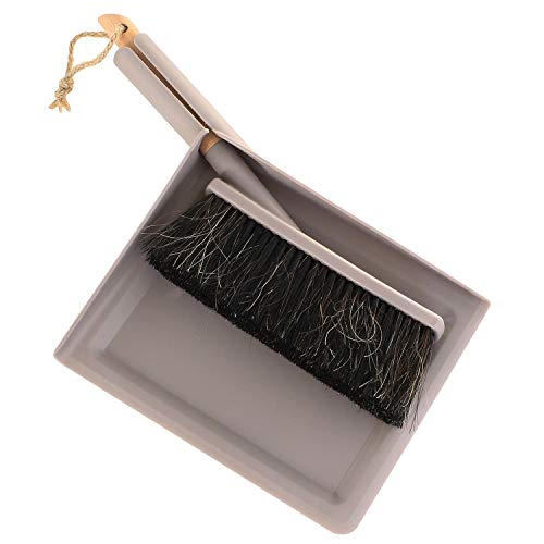MACOSA SP1310 Kehrset Grau | Eckig | Handfeger & Schaufel | Kehrwisch | FSC ZERIFIZIERT | Kehrgarnitur | Kehrschaufel-Set | Handfeger | Handbesen