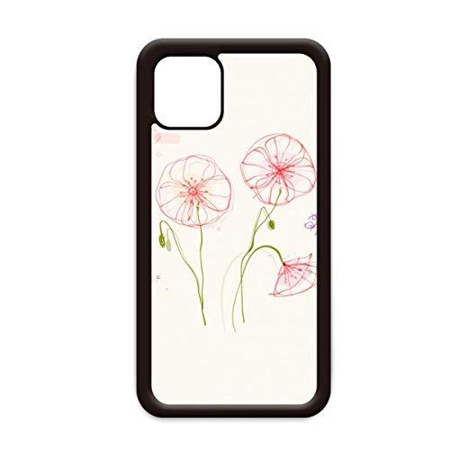 Bloemen Plant Wit Papaver Schilderij voor Apple iPhone 11 Pro Max Cover Apple Mobiele Telefoonhoesje Shell, for iPhone11