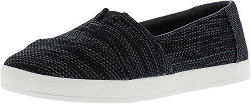 TOMS Damen Avalon Slub Chambray Sneakers Schuh-Schwarz