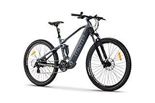 "Moma Bikes Bicicleta Eléctrica E-MTB 29"" Full Suspension, Shimano 24vel, frenos hidráulicos, batería Litio 48V 13Ah (624Wh) (B07WVMK8LW) 