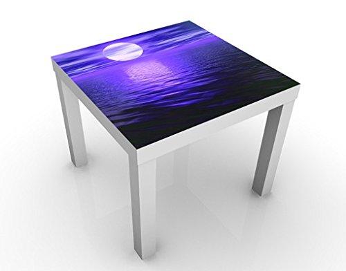 Apalis Table Basse Design Deep Moon 55x55x45cm, Tischfarbe:Weiss;Größe:55 x 55 x 45cm