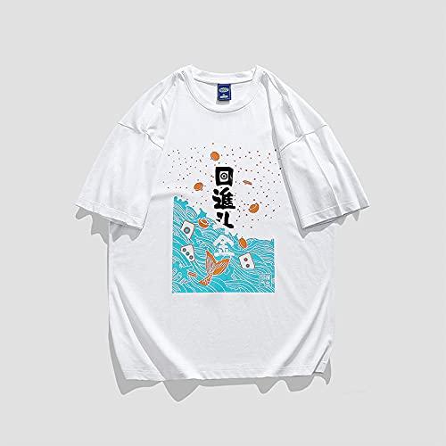 T-Shirts Regalos para Camiseta Padre e Hijo,Camiseta de Manga Corta Mangas de algodón Suelto de los hombres-CT110 Blanco_Metro