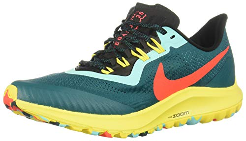 Nike Air Zoom Pegasus 36 Trail Women's Running Shoe GEODE Teal/Bright Crimson-Black Size 8.0