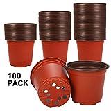 """Best Growing Pots - Akarden 100 Pcs 4.4"""" Plastic Nursery Pot/Pots, Plant Review"""