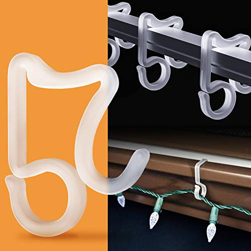 Christmas Plastic Lights Hooks Clips   S or Stick on  Choice Style