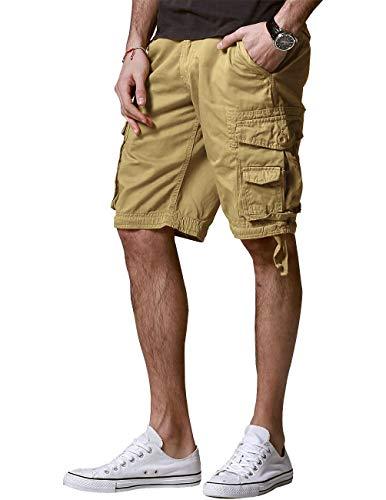 Match Men's Twill Comfort Cargo Short Without Belt #S3612 (Label Size S/29 (US 28), Classic Khaki)