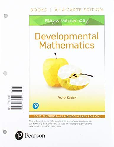 Developmental Mathematics, Loose-Leaf Edition