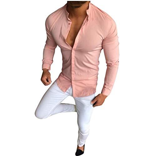 FRAUIT Camicia Uomo Eleganti Cotone Manica Lunga Camicie Uomini Slim Fit Elegante Coreana T Shirt Ragazzo Maniche Lunghe Magliette Maglietta Maglia Maglie