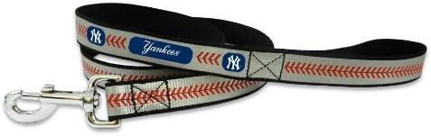 MLB New York Yankees Baseball Pet Leash Max 83% OFF Superlatite Small Reflective
