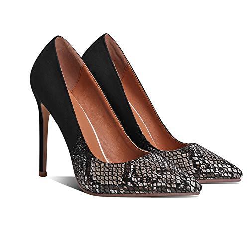 MOOMMO Zapatos de tacón de aguja para mujer, tacón alto, sandalias de...