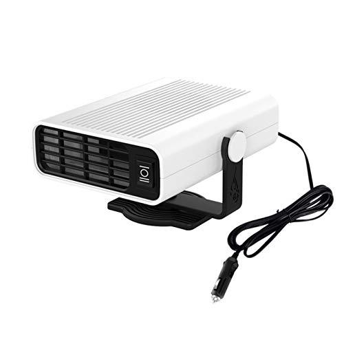 AIHOME Calentador de ventilador de coche, 12 V24 V 120 W y ventilador de refrigeración portátil 2 en 1 para descongelar parabrisas