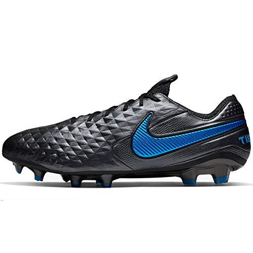 Nike Tiempo Legend 8 Elite FG, Chaussures de Football Mixte Adulte, Multicolore (Black/Black-Blue Hero 4), 40 EU