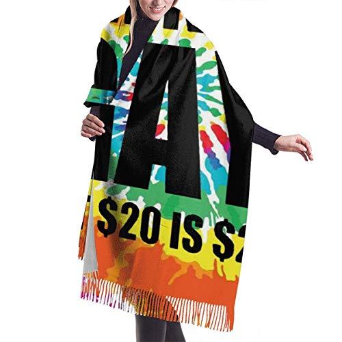 XIUZHEN No Soy Gay, Pero 20 dólares, Bufanda de Cachemir con teñido Anudado para Mujeres, Hombres, Ligeras, Unisex, de Moda, Suaves, Bufandas de Invierno, Chal con Flecos
