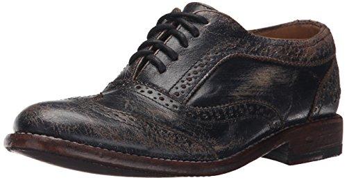 Bed|Stu Lita Women's Oxford Shoe - Leather Wingtip Lace-Up Oxfords - Black Handwash - Size 7