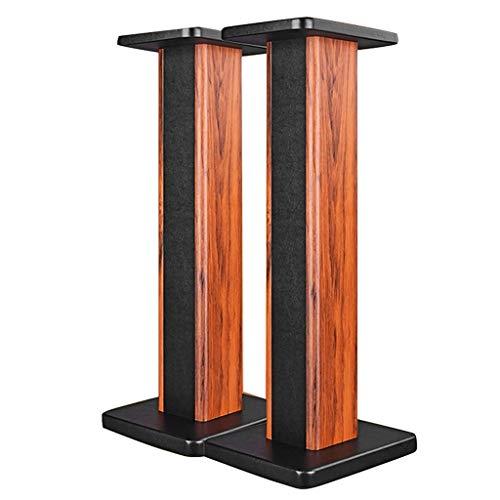 Standfüße Lautsprecherständer Holzlautsprecherständer Paar-Stativ-Sand-Felder-Lautsprecher-Stand-Audioständer für Surround-Sound-Audio für Surround-Sound-Audio (Color : Wood, Size : 24 * 28 * 50cm)