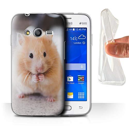 eSwish Carcasa/Funda TPU/Gel para el Samsung Galaxy Trend 2 Lite/G318 / Serie: Lindos Animales de Compañía - Hámster Dorado