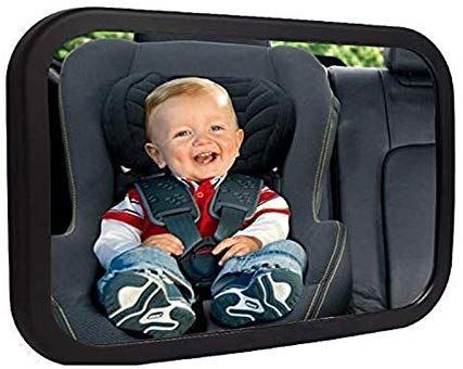 Attached SC Baby Car Mirror - Large Shatterproof Baby Mirror - Baby Car...