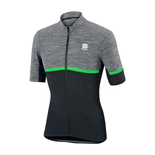 Maillot Sportful Giara Negro-Verde 2017