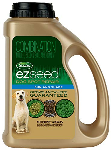 Scotts EZ Seed Dog Spot Repair Sun and Shade - 2 Lb., Mulch, Seed and Soil Amendment with Protectant and Tackifier, Repairs Pet Spots