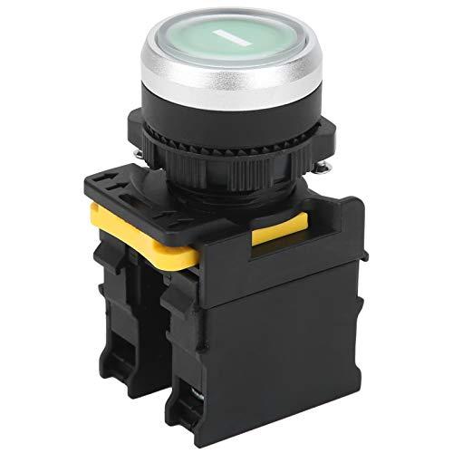 Interruptor de Botón de Arranque,botón pulsador Luz verde Voltaje 220V Interruptor de...