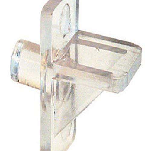 Slide-Co 241946, 1/4-Inch, Clear Plastic,(Pack of 12) Shelf Support Peg, 1/4