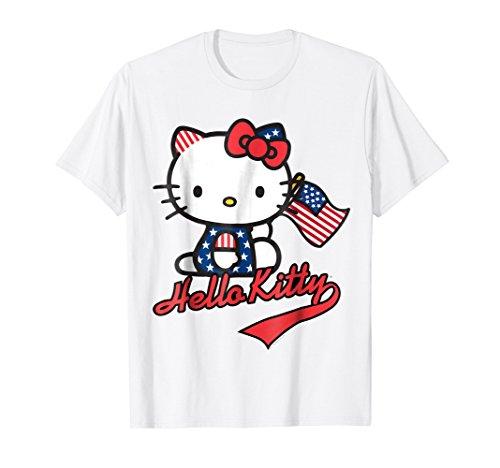 Hello Kitty American Flag Tee Shirt