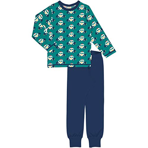 Maxomorra Jungen Schlafanzug mit Polizei Autos Pyjama Police Car (122/128)