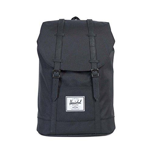 Herschel Retreat Backpack - Mochila casual unisex, Negro (Black/Black), Talla única