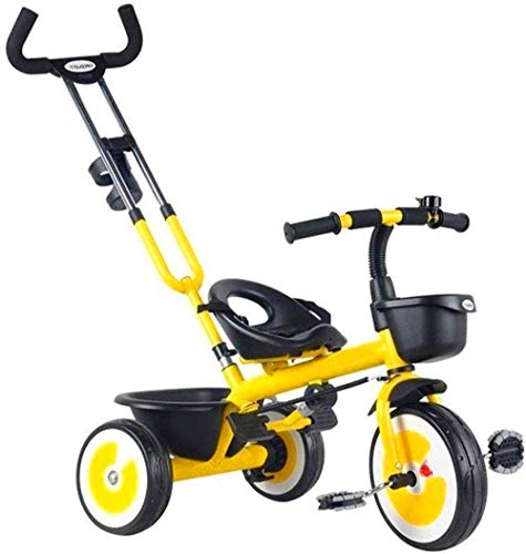 【New upgrade】 Pushchairs Children's Rocking Horse Trikes Children's Tricycle Pedal Bicycle 1-3-5 Years Old Baby Front and Rear Basket with Cup Holder Baby Stroller Baby Products Stylish Pushchair