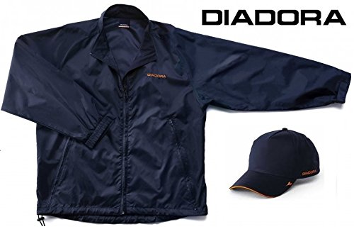 Kit Pioggia Diadora Utility Cappello con visiera + Kway tg,L