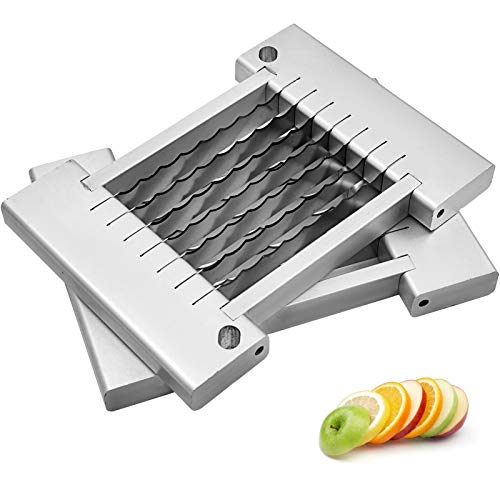Happybuy Set of Two 019 inches Onion Slicer Stainless Steel Kattex Chopper Dicer Cut Assembly Replacement Blades 316 Silver