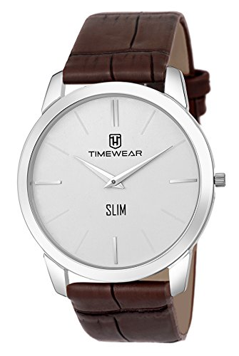 TIMEWEAR TIMEWEAR Slim Series Analogue Men's Watch(Off-White Dial & Brown Colored Strap)-192WDTG